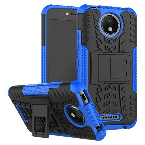 FoneExpert® Motorola Moto C Plus Handy Tasche, Hülle Abdeckung Cover schutzhülle Tough Strong Rugged Shock Proof Heavy Duty Hülle Für Motorola Moto C Plus