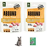Abound Freeze-Dried Chicken Cat Treats 1 oz (Pack of 2) with Bonus Cat Toy