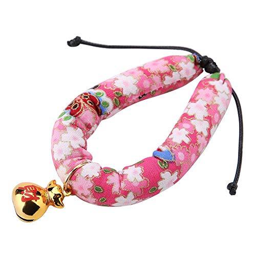 Redxiao~ 【𝐁𝐥𝐚𝐜𝐤 𝐅𝐫𝐢𝐝𝐚𝒚 𝐃𝐞𝐚𝐥𝐬】 Bequemes Haustierhalsband aus weichem Stoff, Hundehalsband, Katze für Hundehalsband(Pink M)