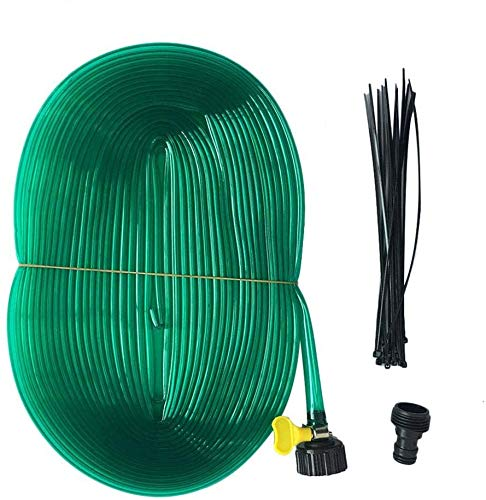 Elikliv Long Trampoline Sprinkler Summer Trampoline Waterpark Heavy Duty Sprinkler Hose Made to Attach On Protective Net Enclosure for Relaxation, Party or Celebration at Trampoline or Swimming Pool