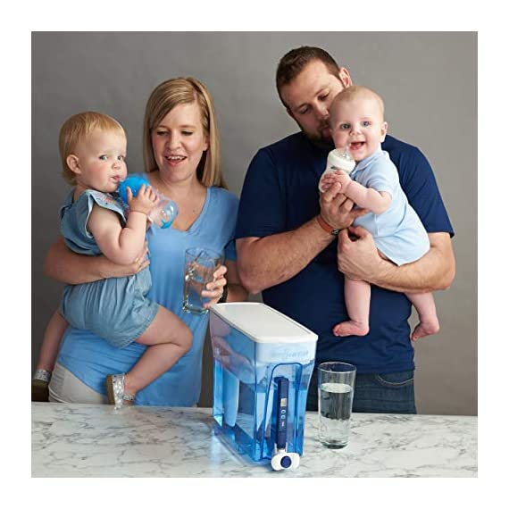 ZeroWater ZD-018 ZD018, 23 Cup Water Filter Pitcher with Water Quality Meter 9 Included Components: Zerowater Zd-018 23-Cup Water Dispenser And Filtration System;Electronic Tds Water Testing Meter;1- Zerowater Filter Cartridge That Removes Contaminants That Cause Water To Have An Unpleasant Taste