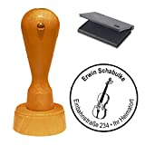 Stempel mit Kissen « GEIGE VIOLINE » Adressenstempel Firmenstempel Musik Komponist Orchester