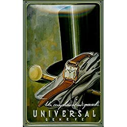 Wenyisign Metal Tin Sign 8 X 12 - Universal Geneve Clock Plate Metal Plaque Cafe, Bar, Home Wall Decor