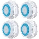 4 x cabezas de cepillo E-Cron®. Cabezal de cepillo compatible para la limpieza facial con poros...