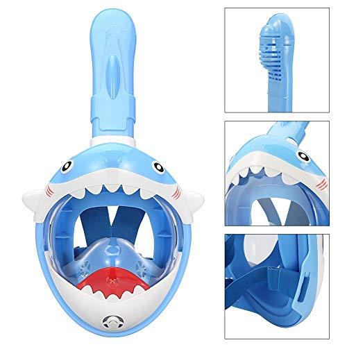 Leezo - Máscara de Buceo para niños, Cara Completa, máscara de esnórquel submarina, antiniebla, para natación, Pesca submarina, Azul