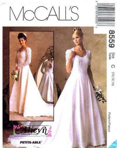 McCall's 8559 Schnittmuster Alicyn Brautkleid, Gr. 38-40