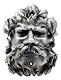 "Ebros Forest Tree Spirit Horned God Celtic Greenman Wrapped In Leaf Foliage Beer Bottle Opener Figurine 6""H Wall Mounted Fantasy Accent Decor Sculpture (Silver Electroplated Finish)"