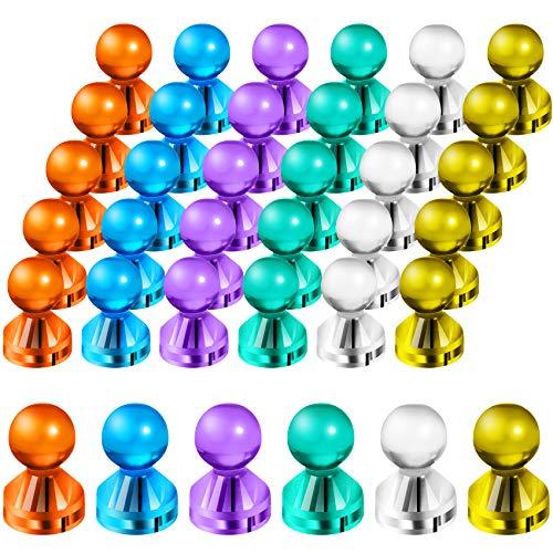 Audamp Whiteboard Magnets 30 Neodym Magnete Kunststoffmagnet Kegelmagnete Kühlschrank Magnete für Magnettafel, Whiteboard, Pinnwand, Notenständer mit Aufbewahrungs Box 6 Farben