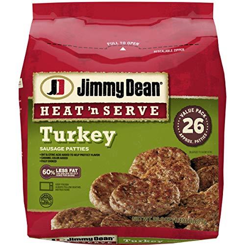 Jimmy Dean Heat n' Serve Turkey Sausage Patties, 26...
