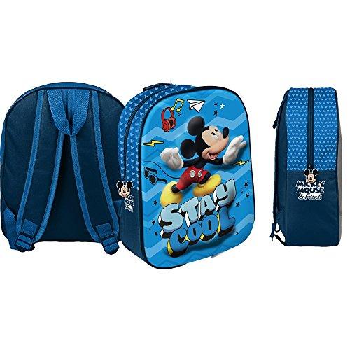 Star Disney Micky Maus & Freunde Kunst Code 48550 Rucksäcke mit 3D-Druck, 26,5 x 10 x 31 cm
