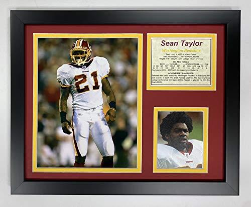 Legends Never Die Sean Taylor Away Framed Photo Collage, 11x14-Inch, Model: 11664U