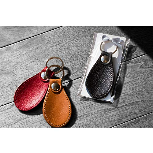 【LEUCA本革靴べらキーホルダー】日本製シューホーンLE-C001(21.ネオブラック)/名入れ無し