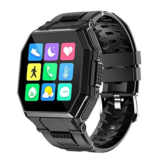 LXZ S9 Bluetooth Llamada A Smart Watch Men's Smart Touch Control De Música Deportes Fitness Tracker Smartwatch Presión Arterial Tasa del Corazón Adecuado para Android iOS,Negro