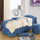 XKun Funda de cama de belleza de seis piezas de lujo de alta calidad estilo norte europeo falda de cama simple 75 x 190 cm (30 x 75 pulgadas)