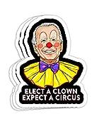 Elect A Clown Expect A Circus 2020 Anti Biden Pun Political Gift Decorations - 4x3 Vinyl Stickers, Laptop Decal, Water Bottle Sticker (Set of 3)