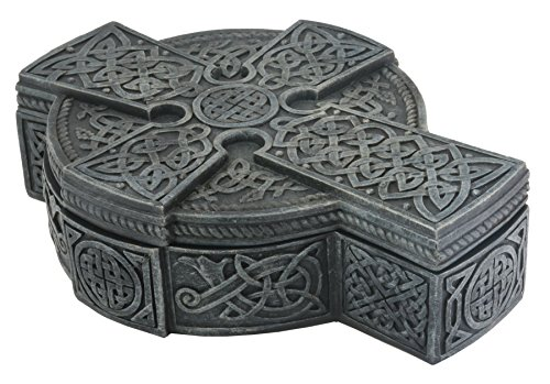 YTC Celtic Cross Box - Collectible Tribal Container Statue Figurine
