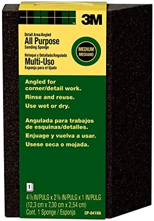 Extra Fine//Fine 4.875-Inch by 2.875-Inch by 1-Inch 3M Large Area Sanding Sponge