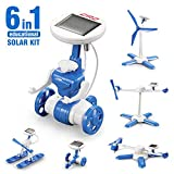 Auney Solar Robot Creation Kit, 6-in-1 Solar Robot Kit for Kids Solar Kit DIY Solar Power, STEM Toys Educational Gift for Kids and Teens, Boys and Girls