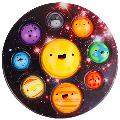 Simple Popper Fidget Dimple Bubble Toys, Planet Dimple Fidget Digit Toys, Sensory Anxiety Relief Silicone Pressure Stress Toys, Plastic Hard Shell Poppits Diget Dinple Cheap Toy