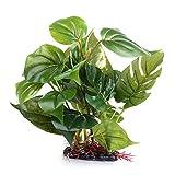 ueetek - pianta artificiale per acquario, in plastica, pianta subacquea per acquario, foglie di erba verde, decorazione per acquario.