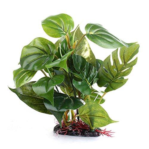 UEETEK Künstliche Aquarium Pflanze Kunststoff Unterwasser Pflanze Grünes Gras Blätter für Aquarium Aquarium Ornament Decor