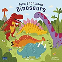 Five Enormous Dinosaurs (Classic Books With Holes Board Book)