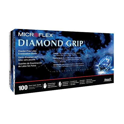 Diamond Grip Exam Glove Extra Large, XL, NonSterile Latex Standard Cuff Length Textured Fingertips White Not Chemo Approved, MF-300-XL - CASE of 1000