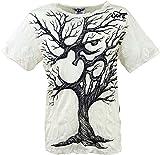 Guru-Shop Sure T-Shirt OM Tree, Herren, Weiß, Baumwolle, Size:XL, Bedrucktes Shirt Alternative Bekleidung