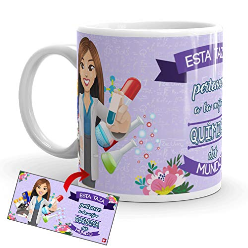 Kembilove Taza de Café de la Mejor Química – Taza de Desayuno para la Oficina – Taza de Café y Té para Profesionales – Tazas de Cerámica de Profesiones para Químicas