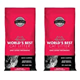 World's Best Cat Litter Multiple Cat Clumping Formula, 8 Pounds, 2 Pack
