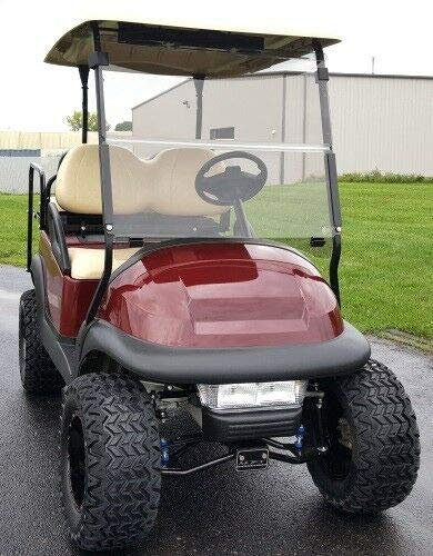 Clear Windshield for Club Car CC Precedent Models | Folding Down Clear Windshield for Club Car CC Precedent Models Gas or Electric Golf Cart (2004-UP)