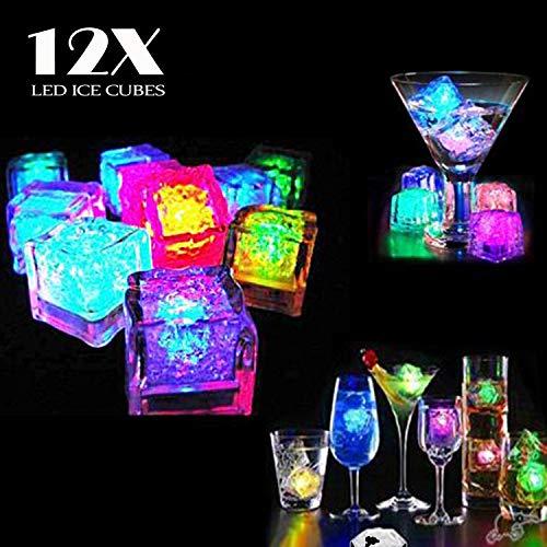 12 Stück LED Eiswürfel Non Toxic Wasser Dekorative LED-Flüssigkeitssensor für Party-Hochzeit-Club-Bar