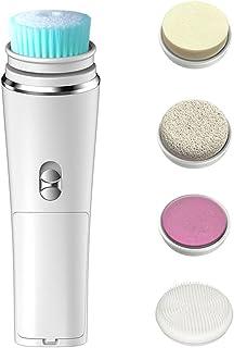 Beaupretty 1 set elektrische gezichtskwasten met 4 koppen waterdichte gezichtskwast voor douche diepe reiniging en zachte ...