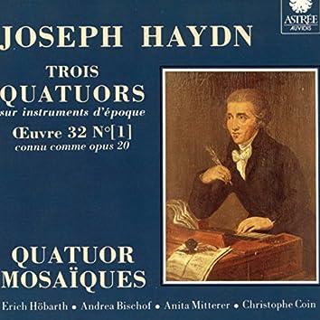 Haydn: Trois quatuors sur instruments d'époque,Op. 20, Vol. 1