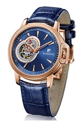 Rossini ROSGS014 Herren Armbanduhr, Zifferblatt im Herzschlag-Design, blaues Armband
