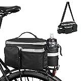 Gohytal Borsa Impermeabile per Bicicletta, Bici Borsa Posteriore Borsa da Bici Posteriore Laterali Multifunzionale Pacchetto Bagagli per Posteriore per Biciclette Riflettenti con Tracolla per Ciclismo