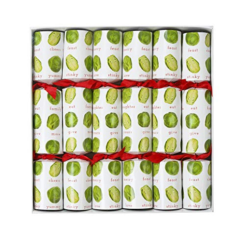 Talking Tables Xmas 6 Christmas Crackers Novelty Sprouts Party, Pack of 6