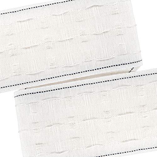Faltenband mit Bleistiftfalten, abnehmbares Gardinenfutter, Verdunkelungsfutter, Gardinenband, Netzvorhänge, lose Innenfutter (75 mm x 5 m)