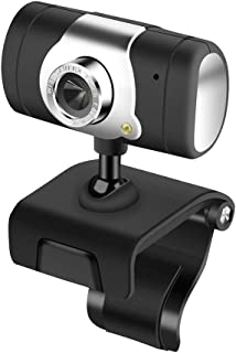 Full Video Webcam, USB 2.0 HD 0.3 Mega Pixel Camera, Flexible Rotatable Clip, Mini Computer Camera with Mic Microphone for Computer PC Laptop Notebook