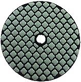 PRODIAMANT Disco de lija de diamante de 100 mm de diámetro para lijar y pulir en seco y húmedo de piedra, piedra natural, mármol, gres porcelánico grano 100