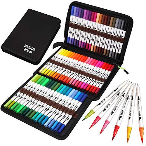 Rotuladores de Pincel Acuarelables, 60 colores Rotuladores d