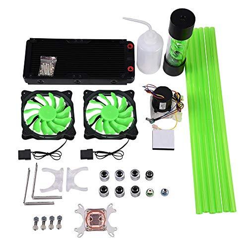 Tonysa Kit de Refroidissement par Eau pour PC, Refroidisseur Liquide CPU Tout-en-Un, dissipateur de Chaleur 240mm, réservoir de Pompe à Blocage d'eau pour processeur LED pour Ordinateur/Intel