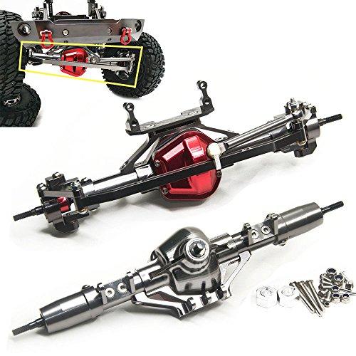 Aluminum Axle Front & Rear Axle FitFor 1/10 RC Rock Crawler AXIAL SCX10 Honcho (Front & Rear Axle)