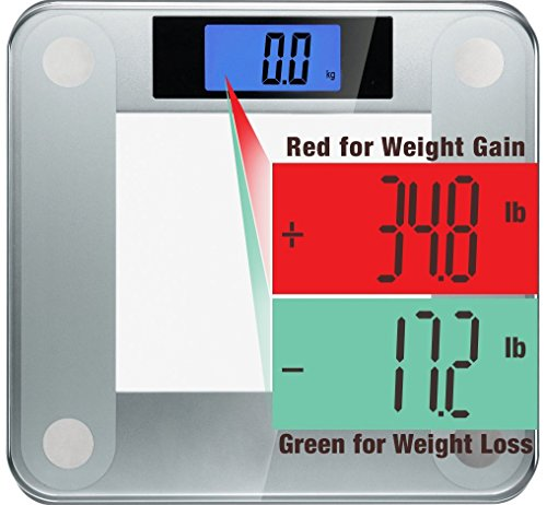 Ozeri Precision II 440 Lbs (200 Kg) Bath Scale With 50g Sensor Technology (0.1 Lbs/ 0.05 kg) & Weight Change Detection
