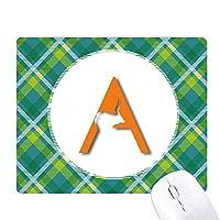 アンテロープホーン 緑の格子のピクセルゴムのマウスパッド