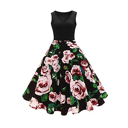 JCZX Summer V-Ausschnitt Großes, schmales Kleid