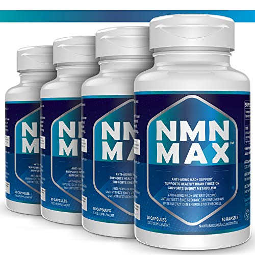 51FgpaygwzL - 4 Pack NMN Capsules with Maximum Strength- 500mg- High Absorption Nicotinamide Mononucleotide Supplement- Supports Brain Function & Anti Aging