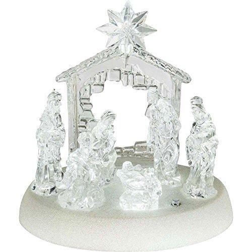 Design Tisch Leuchte X-MAS Krippe Figuren Musik Wohnraum Weihnachts Lampe Schalter klar Globo 23246