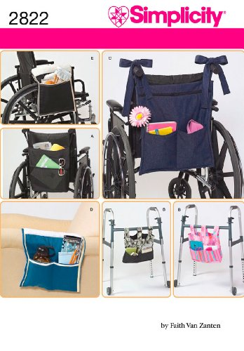 Simplicity 2822 Wheelchair and Walker Accessory Sewing Pattern, One Size