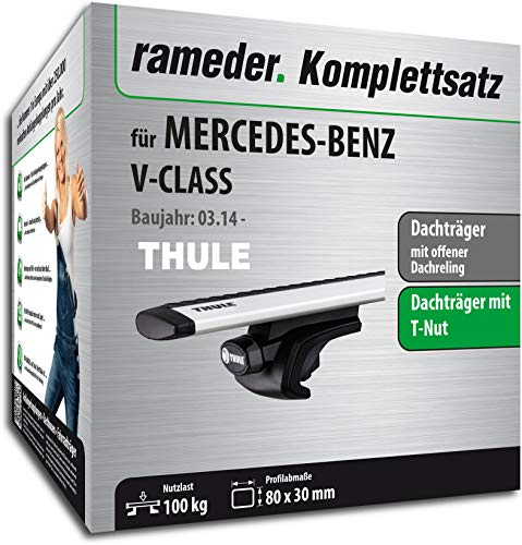 Rameder Set, Dachträger WingBar EVO kompatibel für Mercedes-Benz V-KLASSE (114614-11889-1)